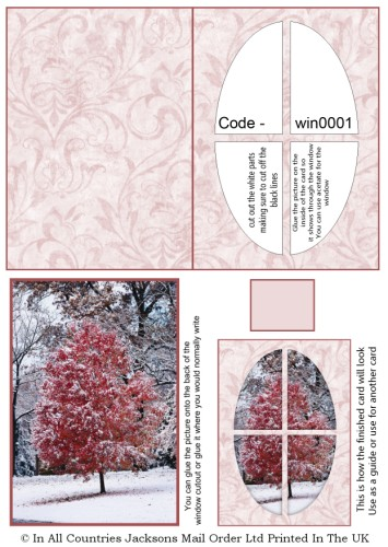Window Sheets - Winter Tree Window RRP 75p