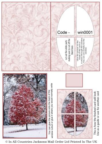 Window Sheets - Winter Tree Window RRP 75p
