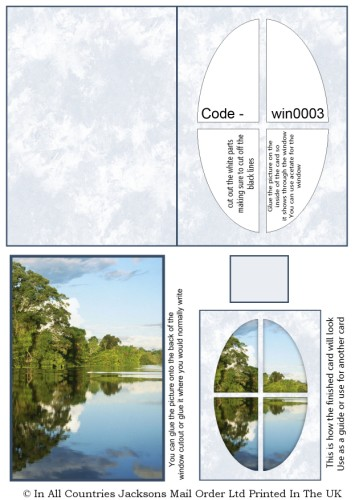 Window Sheets - Lake View Window RRP 75p