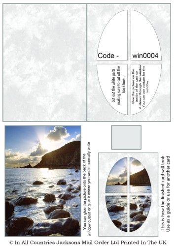 Window Sheets - Ocean Bright Window RRP 75p