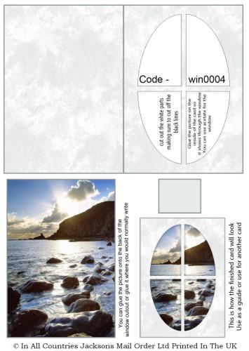 Window Sheets - Ocean Bright Window RRP 75p