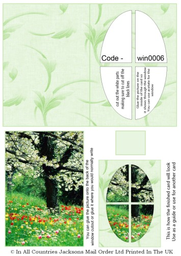 Window Sheets - Summer Meadow Window RRP 75p