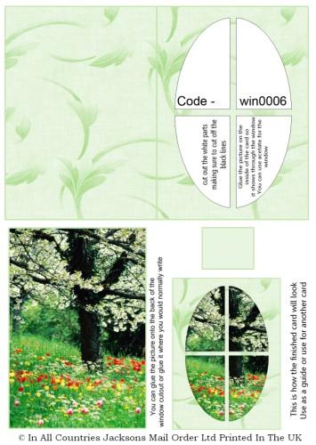 Window Sheets - Summer Meadow Window RRP 75p