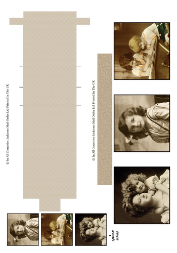Waterfall Sheet - Vintage 1 3D Card Art RRP 85p