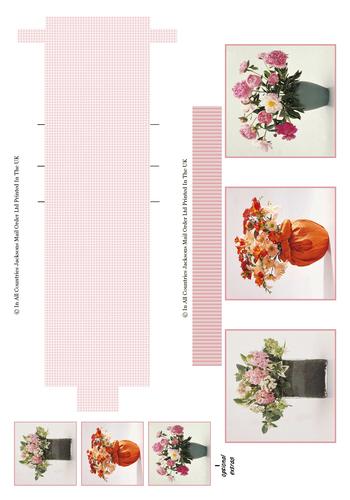 Waterfall Sheet - Florals 3D Card Art RRP 85p