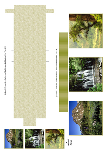 Waterfall Sheet - Landscapes 3D Card Art RRP 85p