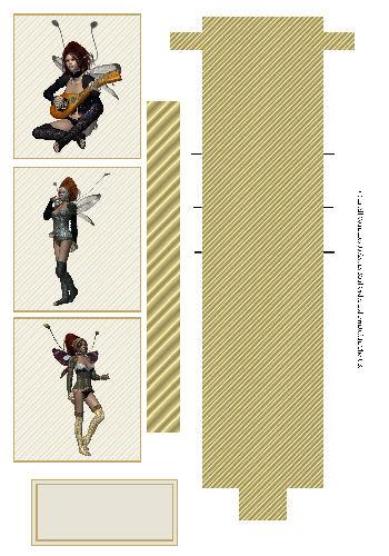 Waterfall Sheet - Teen Fairies 3D Card Art RRP 85p