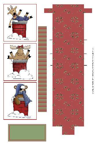 Waterfall Sheet - Christmas Chimney Capers 3D Card Art RRP 85p